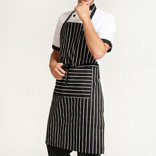 BLACK AND WHITE APRON Butchers Catering Cooking PROFESSIONAL CHEF APRONS  New