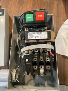 GE CR306B1 magnetic contactor with box and switch 3 Pole CR305X