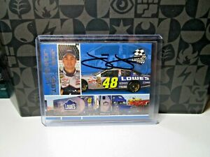 Jimmie Johnson signed AUTOGRAPHED 2003 PRESS PASS STEALTH #48 Card
