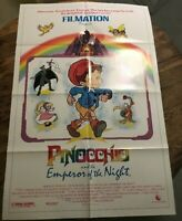 """PINOCCHIO and the EMPEROR of the NIGHT"" onesheet movie poster 27""x40"""