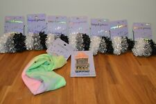 NWT Scunci Looped Ponies Hair Band/Ties Lot 9 Pieces