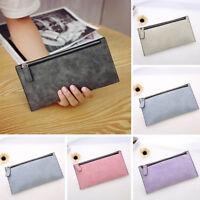 Mujer Cremallera cartera monedero tarjeta billetera embrague bolsa Handbag