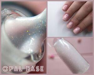 NailApex Opal Pink Base Cover French Glitter Base Coat Shimmer Gel Nail Art