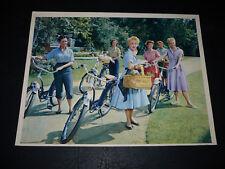 ATHENA, orig 8x10 [Debbie Reynolds, Jane Powell, & girls w/ bicycles] -- 1954