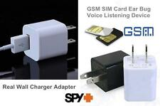 Spy USB Charger GSM Remote Voice Ear Bug Activated Audio Listener GPRS Tracker