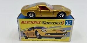 Matchbox Superfast No. 33 Red Interior Lamborghini Miura P400 in Original Box