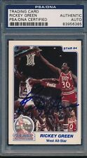 1984 Star Denver Police ASG #20 Rickey Green PSA/DNA Certified Auth Auto *6385