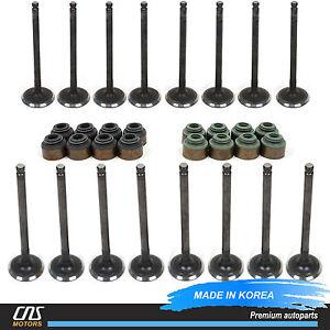 For 98-04 Kia Sephia Spectra 1.8L Intake & Exhaust Valve Kit w/ Valve Stem Seals