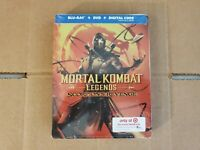LIKE NEW!! - Mortal Kombat: Exclusive Steelbook Edition (Blu-ray & DVD) No Code