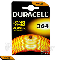 1 x Duracell Silver Oxide 364 1.5V battery watch D364 V364 SR60 SR621SW AG1