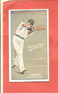 Cigarette Card. Sniders & Abrahams. Cricketers in Action. J. H. King.