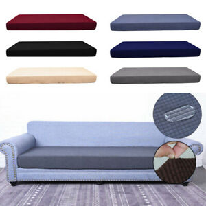 1-4 Seats Stretchy Protector Fabric Cushion Cover Slipcovers Sofa Cover Solid