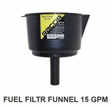 """Racor RFF15C Stainless Steel Fuel Filter Funnel 12 GPM 74 Micron 8.5"""" Diam MD"""