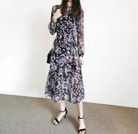 AUTH Ted Baker OPHELEA Knitted Midi dress with pleated skirt 0-5