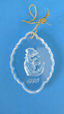 Christmas Precious Moments 1990 Lead Crystal Winter's Song Ornament