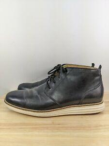 Cole Haan Lunargrand Black Leather Chukka Ankle Boots Sz 10 M