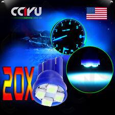 20x Ice Blue Instrument Panel Speedometer 194 T10 Wedge 4SMD 3528 LED Dash Light