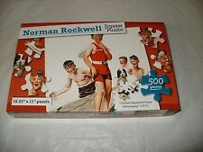 """New In Box Norman Rockwell Jigsaw Puzzle """"Cousin Reginald Goes Swimming"""" 500 Pc."""