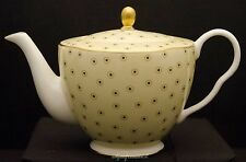 WEDGWOOD TEA STORY YELLOW POLKA DOT TEAPOT