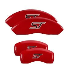 MGP Caliper Covers Engraved Front & Rear for 13-18 Ford Focus ST Red