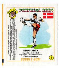 Portugese Gorila gum Wax Wrapper Euro 2004 - Team Colours & Flag - #3 Denmark