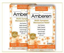 (2 Box)Amberen Menopause Relief Restores Hormonal Balance, 60 capsules, 400mg.