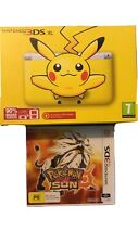 Nintendo 3ds Pikachu Console Pokemon Sun Game Included