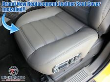 2005 2006 Hummer H2 SUT -Driver Side Bottom Replacement Leather Seat Cover Gray
