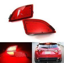 For 2014+ Axela Mazda 3 Hatchback Red Lens LED Bumper Reflector Tail Brake Light
