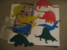 8 Prehistoric Animal Stencils Dinosaurs Rubbings Prints Textured Features