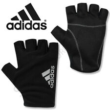 Mens ADIDAS Gloves Fingerless Training Running Sports Gym Cycling Adults Black