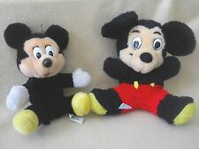 2 Vintage Walt  Disneyland Disney World plush Mickey Mouse stuffed animals