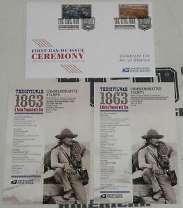 Civil War Gettysburg Vicksburg Forever First Day of Issue 2 Stamp Cachet Program