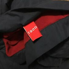 Izod Quilted Down Fleece Blanket Plush Throw 63x86 Navy Blue Red Twin Bedding