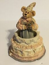 Boyds Bears Resin Gypse Rose Surprise Resin Birthday Bearstone Cake 228332 Nos