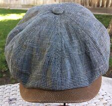 STETSON GERMANY GLENNWOOD NEWSBOY UNCONSTR CAP  GRAY LINEN GERMAN L 59cm 7 3/8