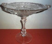 "1933-39 CAMBRIDGE GLASS #3500/37 etching VALENCIA 7 1/2"" COMPORT - MOST ELEGANT"