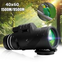 40X60 Waterproof Day&Night Vision Dual Focus HD Optics Zoom Monocular  * Y