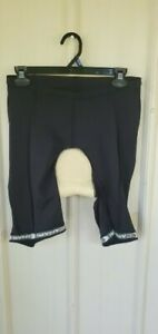 Canari men's L padded cycling shorts black R N #109814 nylon/spandex