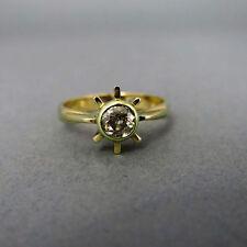 P1 Echte Diamanten-Ringe aus Gelbgold mit Brilliantschliff