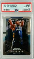 2019 Panini Prizm Zion Williamson PSA 10 Gem Mint Rookie RC #248 super hot rc