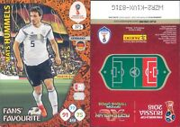 WC RUSSIA 2018 *Panini Adrenalyn-Card FANS' FAVOURITE  N.375*HUMMELS-GERMANIA