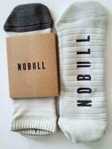 NWT NOBULL (NO BULL) LOW CUT SOCKS MEN'S LARGE PALE GRAY