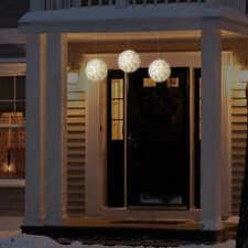 General Eléctrico Ge 14cm Blanco cálido Luces LED Navidad Esferas ~ Juego de 3