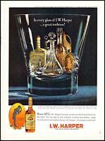 1964 I.W. Harper gold medal bourbon bottles glass vintage photo Print Ad ads19