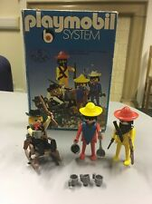 Vintage Playmobil System Western Klicky 5 1974 cowboy/fort/soldier/Indian 3241
