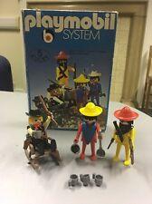 Vintage Playmobil System Western klicky 5 1974 Cow-boy/fort/soldat/indien 3241