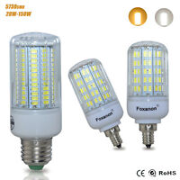 E27 E12 LED Corn Bulb 5730 SMD Spotlight Lamp Candle Light 20W-150W AC110V 220V