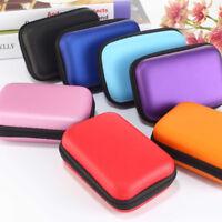 1Pcs Portable Earphone Data USB Cable Travel Case Organizer Pouch Storage Bag