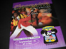 Cleopatra Three Sisters One Singing Sensation 1997 Promo Poster Ad mint cond